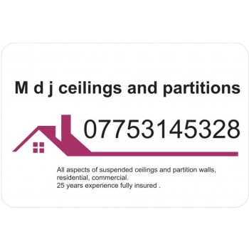 M d j ceilings and partitions