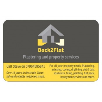 back2flat plastering & property services