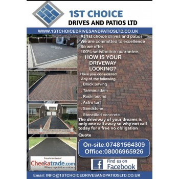 1st choice drives and patios
