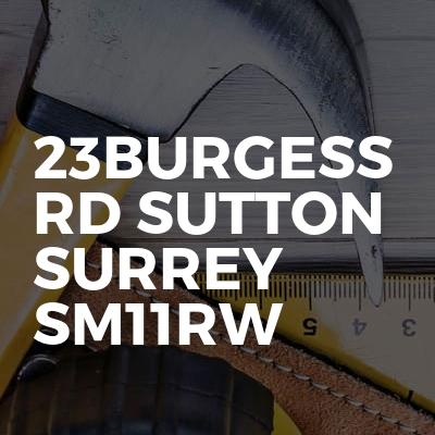 23Burgess Rd Sutton Surrey Sm11rw