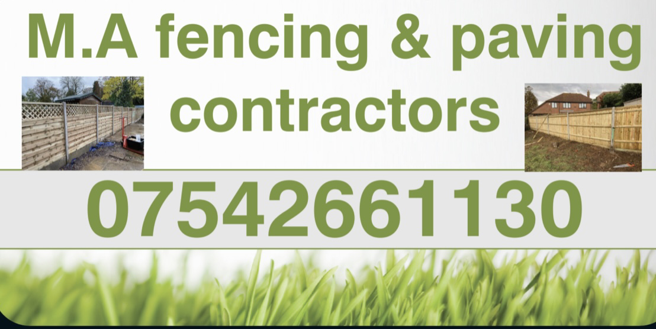 M.A fencing & paving contractors
