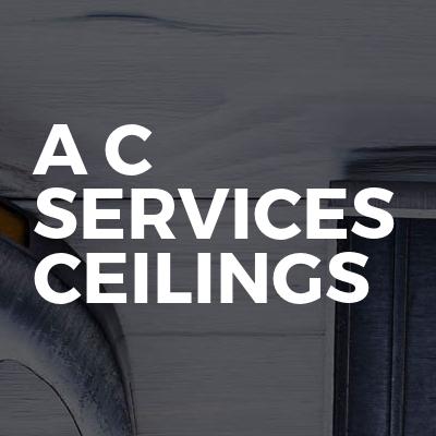 A C  services Ceilings