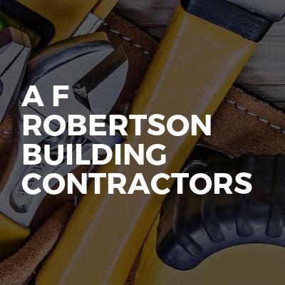 A F Robertson Building Contractors