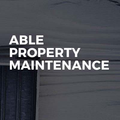 Able property maintenance