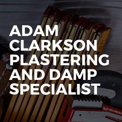 Adam clarkson plastering and damp specialist