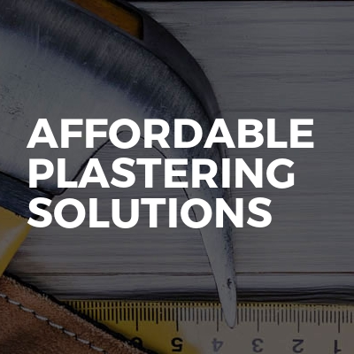Affordable Plastering Solutions