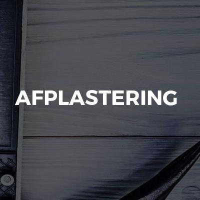 Afplastering