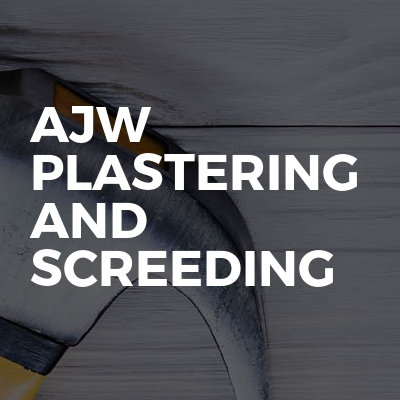 Ajw plastering and screeding