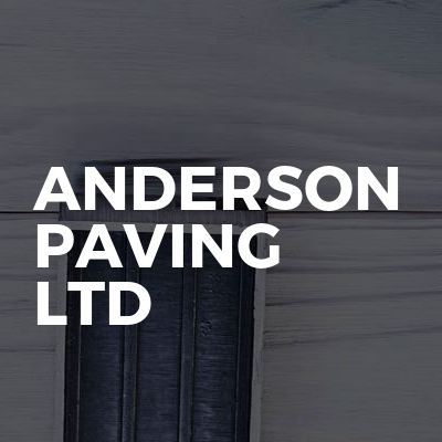 Anderson paving ltd