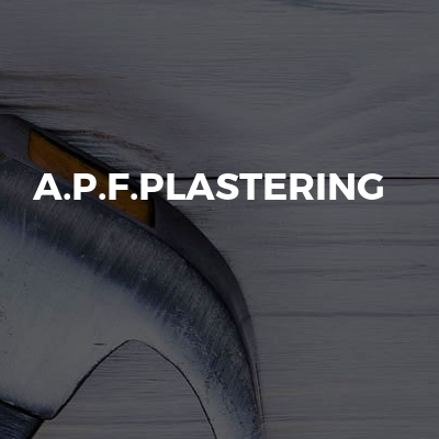 A.P.F.PLASTERING
