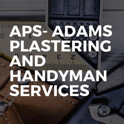 APS- Adams plastering and handyman services