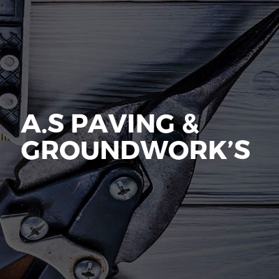 A.S Paving & Groundwork's