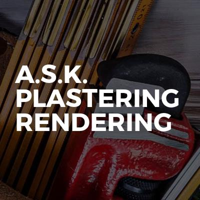 A.s.k. Plastering   Rendering