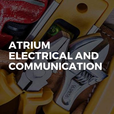 Atrium electrical and communication