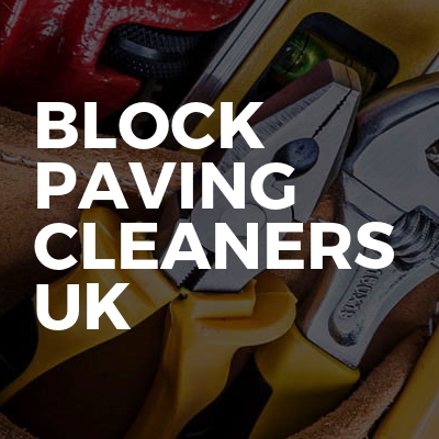 Block paving cleaners Uk