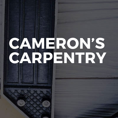 Cameron's carpentry