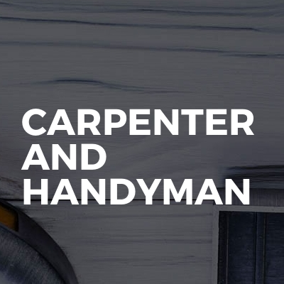 Carpenter And Handyman