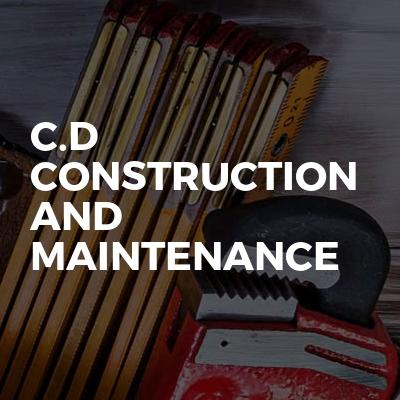 C.D construction and maintenance