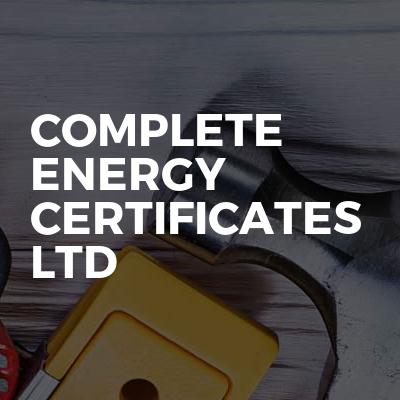 Complete Energy Certificates Ltd