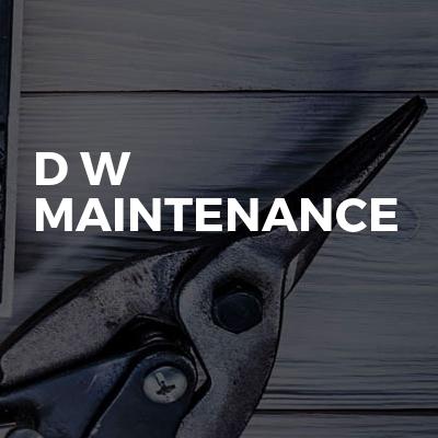 D w maintenance