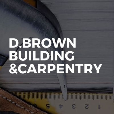 D.brown building &carpentry