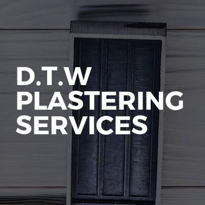 D.T.W plastering services
