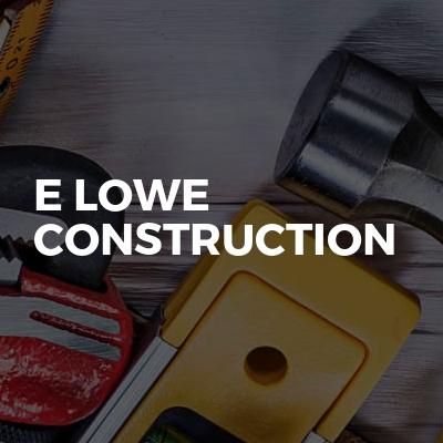 E Lowe Construction