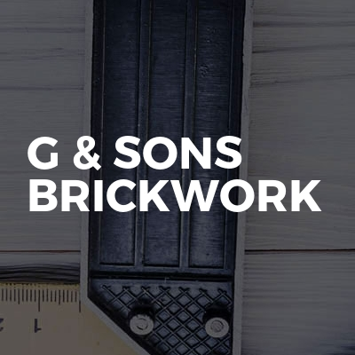 G & sons Brickwork