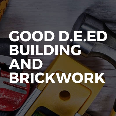 Good d.e.ed building and brickwork