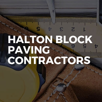 Halton block paving contractors