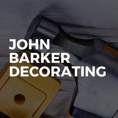 John Barker decorating