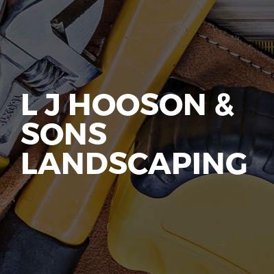 L J Hooson & Sons Landscaping