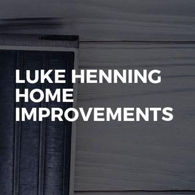 Luke Henning home improvements