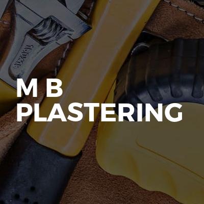 M B PLASTERING