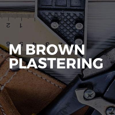 M brown plastering