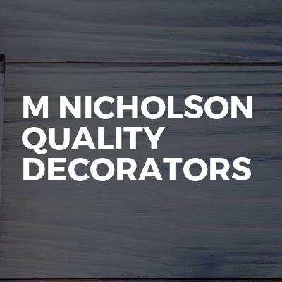 M nicholson quality decorators