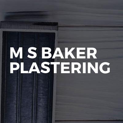 M S Baker Plastering