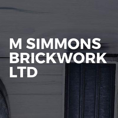 M simmons brickwork Ltd