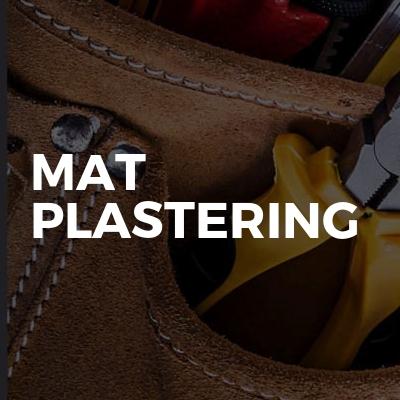 Mat plastering