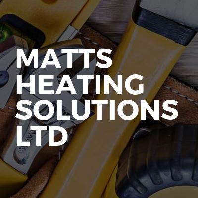 Matts Heating Solutions ltd