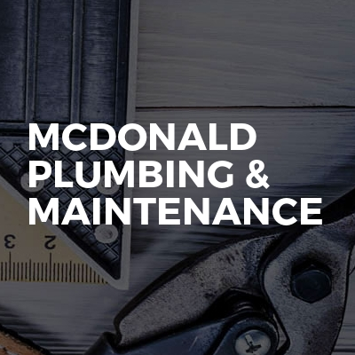 McDonald Plumbing & Maintenance