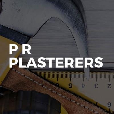 P r plasterers