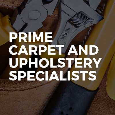 Prime carpet and upholstery specialists