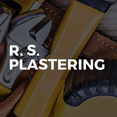 R. S. Plastering