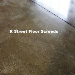 R Street Floor Screeds