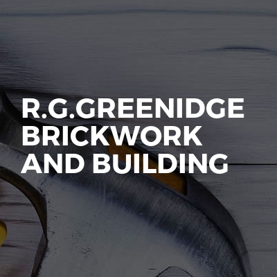 R.G.Greenidge brickwork and building