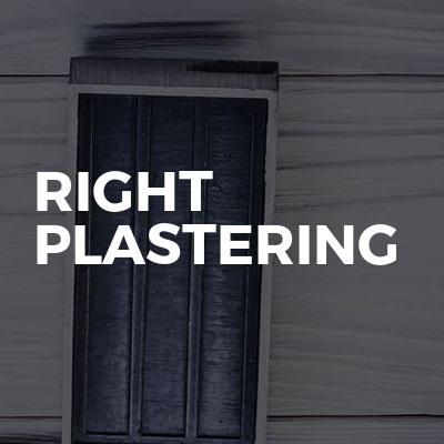 Right Plastering