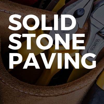 Solid stone paving