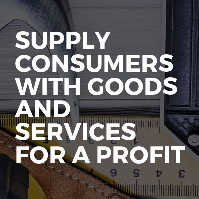 supply consumers with goods and services for a profit