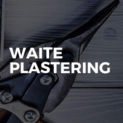 Waite plastering